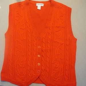 Alfred Dunner Vest, Color Red, Size Medium